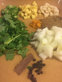 All ingredients that go into food processor